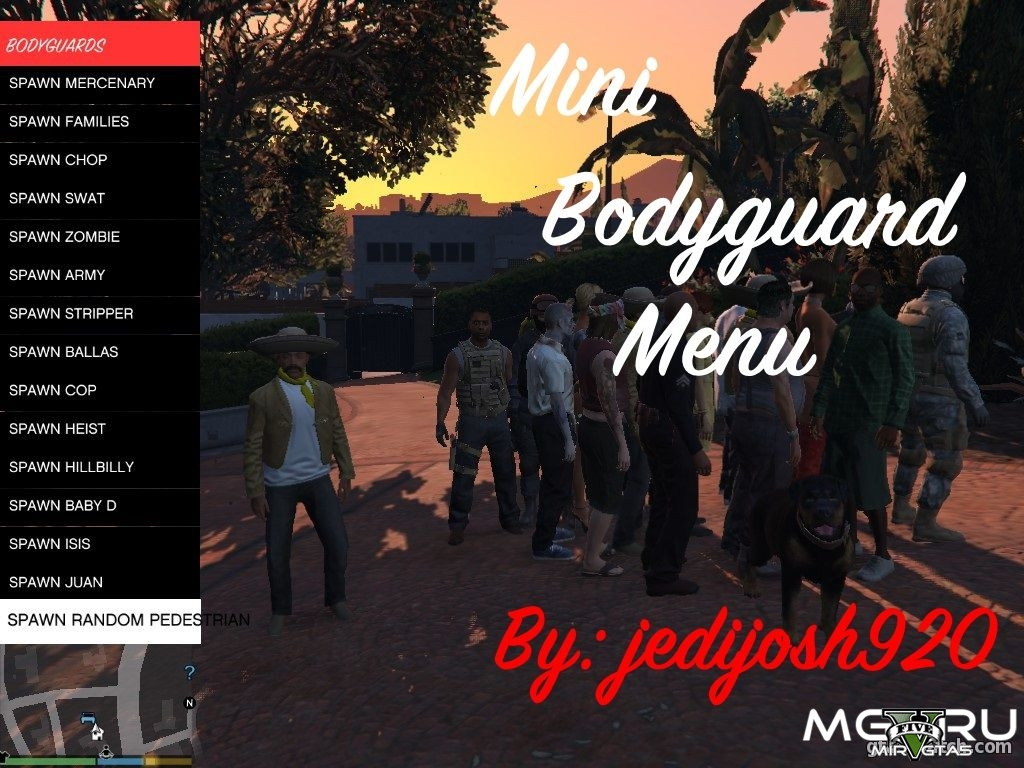 Мод Mini Bodyguard для GTA 5 (Menu)